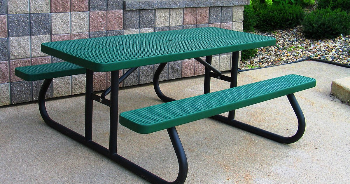 Rectangle Picnic Tables With Year Warranty Premier Polysteel - Ready to assemble picnic table