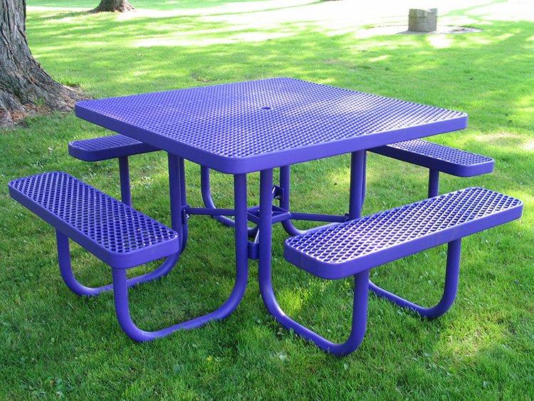 square picnic tables