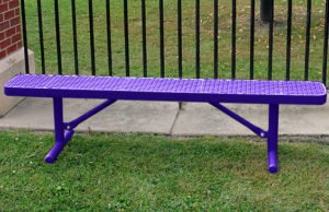 6 foot 100% plastisol coated portable park bench
