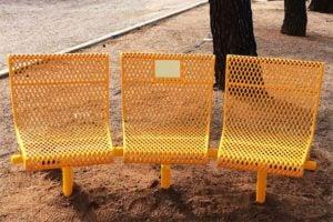45 degree memorial bench