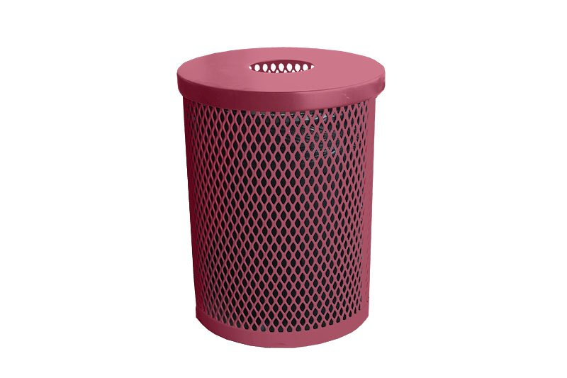 round garbage can