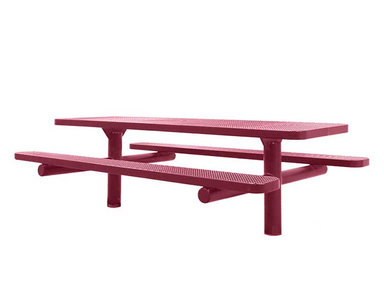 Double Pedestal Direct Bury Picnic Tables