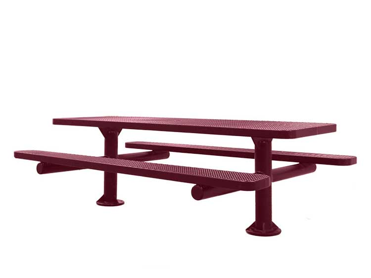 Double Pedestal Surface Mount Picnic Tables