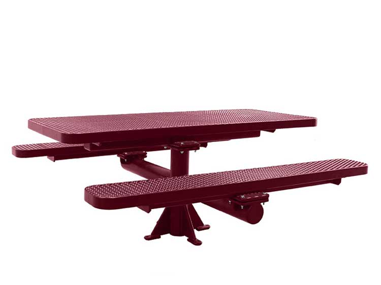 Single Pedestal Surface Mount Picnic Tables