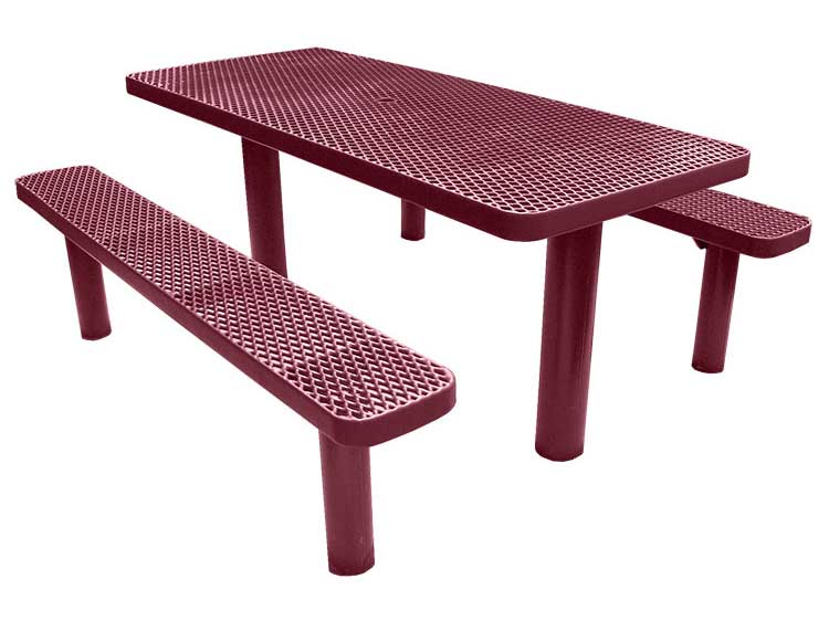 Multi pedestal direct bury picnic tables