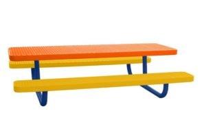 children's picnic table plastisol coated
