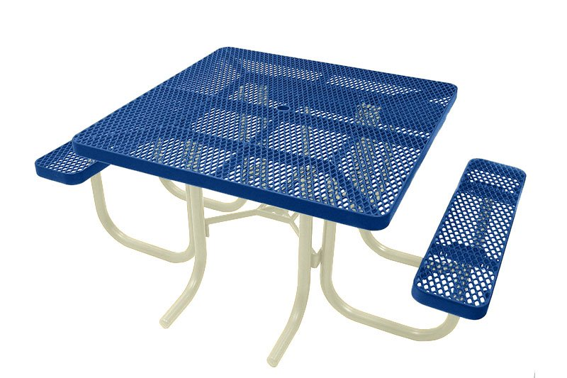 Square Picnic Tables With A Year Warranty Durability Plus - Picnic table with backrest