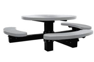 3-seat pedestal picnic table