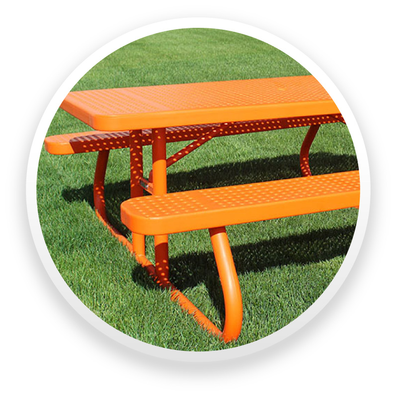 Rectangle Picnic Tables With Year Warranty Premier Polysteel - Commercial outdoor picnic table store