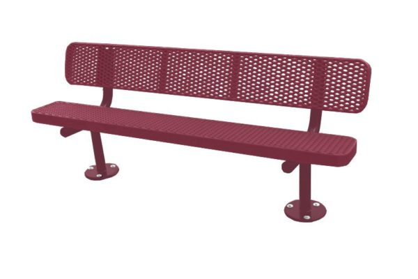 plastisol coated park bench