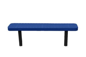 completely plastisol coated bench with direct bury legs