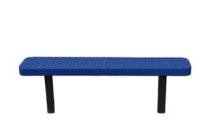 4 foot 100% plastisol coated direct bury park bench.