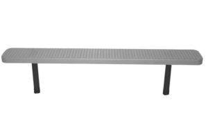 6 foot 100% plastisol coated direct bury park bench.