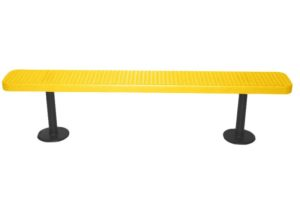 6 foot 100% plastisol coated bolt-down park bench