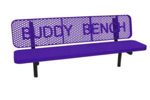 in-ground school bench