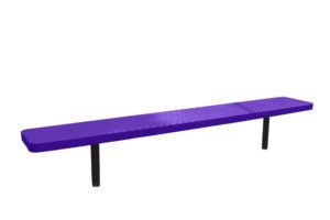8 foot in-ground bench with plastisol coated seat and legs