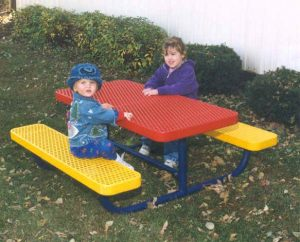 children's memorial picnic table seats four