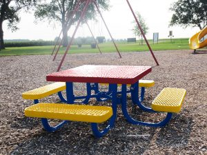 expanded metal kids picnic tables