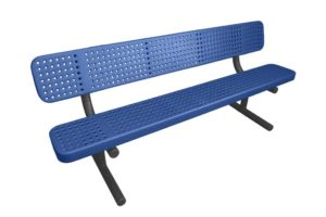 6 foot metal bench with plastisol coating