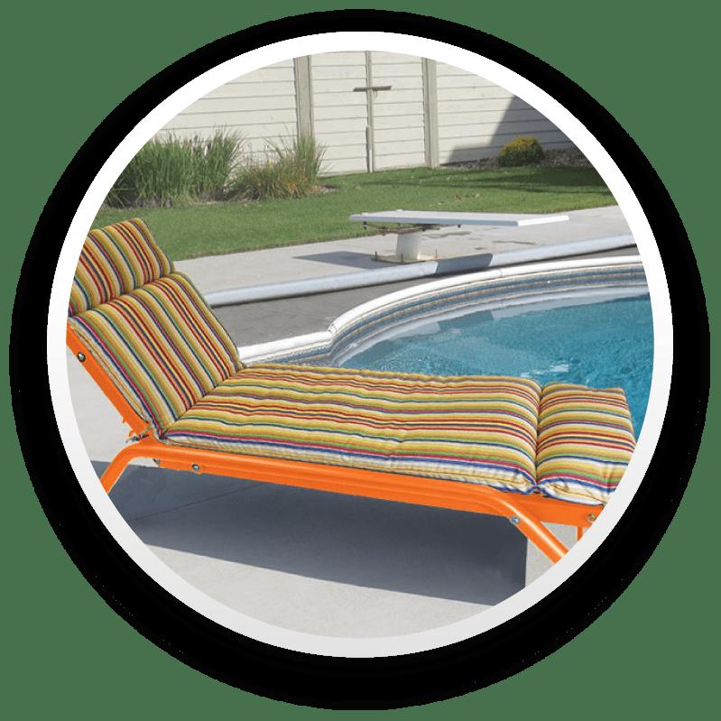 Orange pool chair