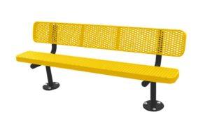 plastisol coated 6' tribute bench