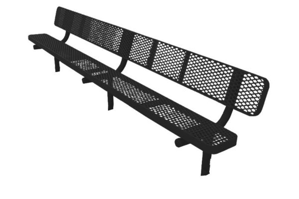 plastisol coated metal benches