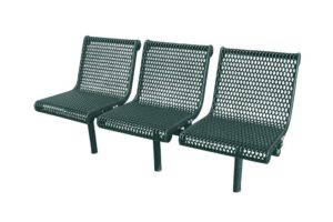 in-line contour bench with direct bury legs