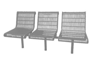 in-line contour bench with direct bury legs.
