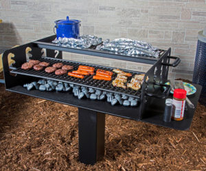 in-ground group grill