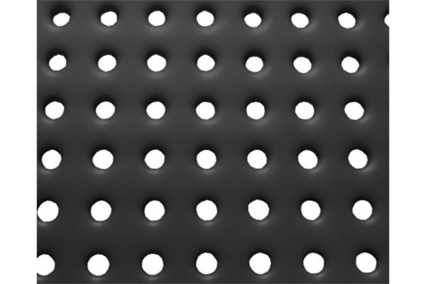 perforated steel sample