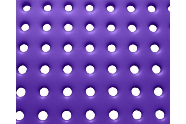 plastisol coated perforated steel