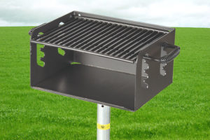 commercial pedestal grill