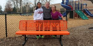 School bench in your choice of colors