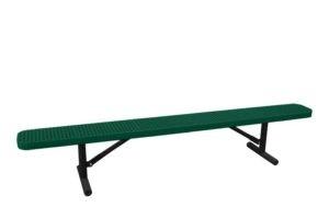 8 foot 100% plastisol coated park bench