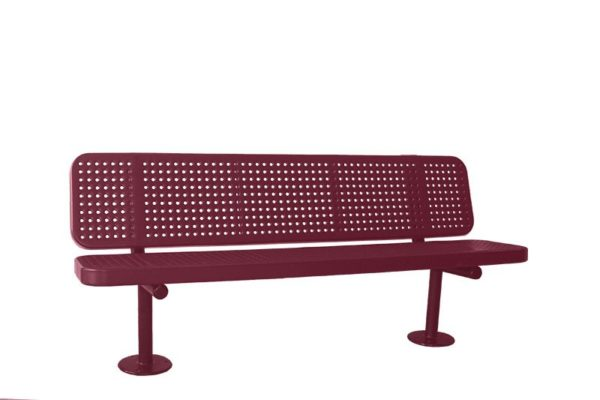 perforated steel surface mount bench