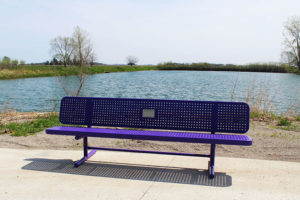portable memory benches with dedication plaque