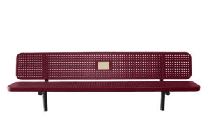In-ground memory bench with plaque for tribute
