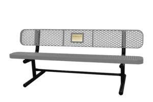 6' memorial bench