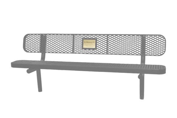 outdoor memorial benches