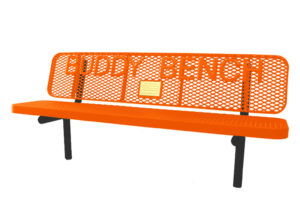 in-ground buddy bench with plaque