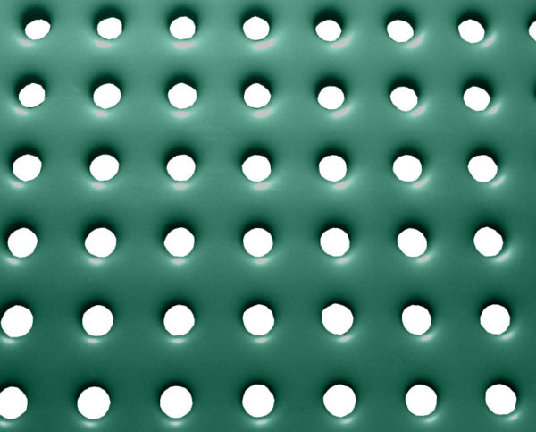 poly-vinyl coated perforated steel