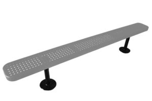 surface mount outdoor bench with plastisol coating