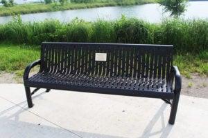contoured memorial bench