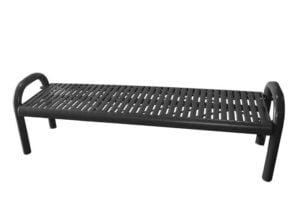 plastisol coated laser cut steel contour bench