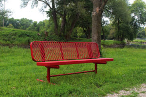 park bench is 100% plastisol coated
