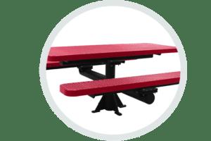 Heavy Duty single pedestal surface mount