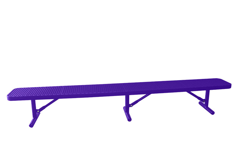 Park Bench Commercial Grade Plastisol Coated Metal Usa Made