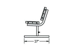 sturdy free-standing school bench frame