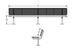 surface mount bench
