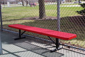 Free-standing Supreme bench without backrests